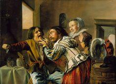 """The Dentist"" (1629) by  Jan Miense Molenaer"