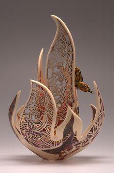 "Joey Richardson ~ ""Invincible Spirit"" ~ Wood Sculpture"