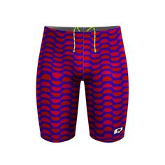 Red Classic Half Dome Jammer. You can't go wrong with a classic. #qswimwear