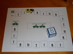 Letter recognition game- could adapt and do letter sounds...make this a letter collection game revealing picture with beginning sound under tiles