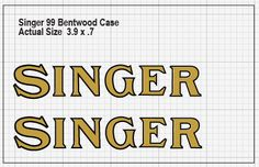 Singer Bentwood Case Restoration Decals