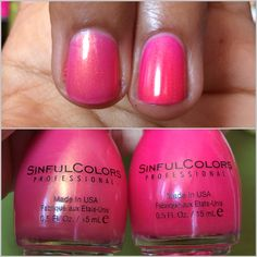 Sinful Colors Cream Pink old and new formulas