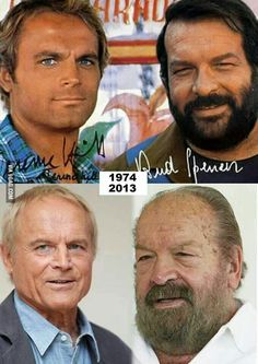 Baddy e Terry ( Bud Spencer and Terence Hill ). Bud Spencer Terence Hill, Iphone Wallpaper For Guys, Cinema Tv, Celebrities Then And Now, Western Movies, Film Serie, Great Movies, Movie Stars, Famous People