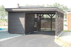 Carport with shed Carport With Storage, Building A Storage Shed, Bike Storage, Carport Sheds, Carport Garage, Pergola Carport, Greenhouse Shed, Carport Designs, Small Outdoor Spaces