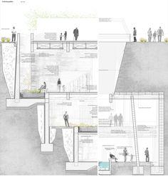 Jardín Botánico de Calama, Primer Lugar en Concurso de Arquitectura Subterránea CTES 2014 / Chile,Escantillón