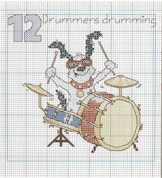 Perro baterista