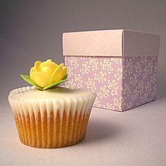 lavender floral wedding cupcake boxes