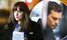 Dakota Johnson and Jamie Dornan go casual on Fifty Shades Darker set