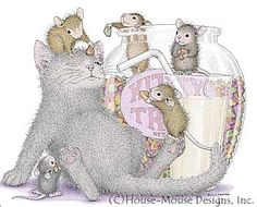 """Monica, Mudpie, Maxwell, Muzzy and Amanda"" from House-Mouse Designs®"