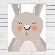 Sleeping Bunny nursery wall art Woodland von Anietillustration