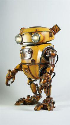 Steampunk cars | ... Paul Braddock created Eddie, the amazing 3D printed steampunk robot