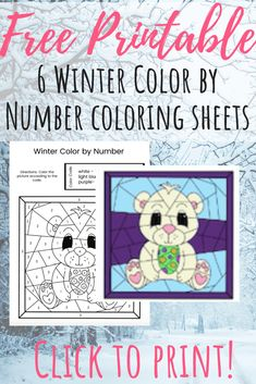 This free winter color by number printable is a great way to have a super fun indoor activity for the kids! It also helps them with their number skills, too. #colorbynumber #freeprintable #winteractivitiesforkids #winterprintables #kidsactivities Winter Activities For Kids, Indoor Activities For Kids, Preschool Activities, Play Based Learning, Learning Through Play, Kids Learning, Color By Number Printable, Printable Numbers, Winter Colors