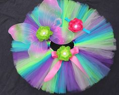 Butterfly Fairy Costume Tutu Set Baby Tutus by PirouetteBoutique, $50.95
