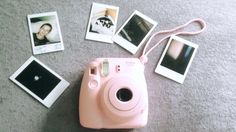My polaroid camera with my pic