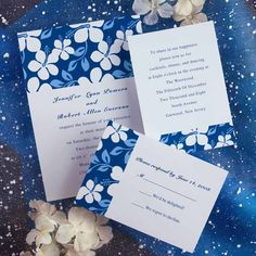 icanhappy.com royal blue wedding invitations (39) #weddinginvitations