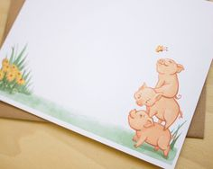 Hey, I found this really awesome Etsy listing at https://www.etsy.com/listing/238379433/3-little-pigs-characters-stationery-6