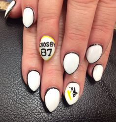 Pittsburgh penguin nails nails pinterest penguin nails pittsburg penguins nails for my birthday we won prinsesfo Choice Image