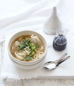 Australian Gourmet Traveller fast recipe for pork wonton soup.