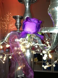 Purple and pearls warm lights Romantic