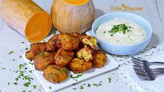 Receta Buñuelos de Calabaza Salados con Bacalao Tandoori Chicken, Cauliflower, Vegetables, Ethnic Recipes, Food, Manga, Gourmet, Garlic Aioli, Squash Fritters
