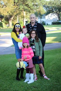 Despicable Me DIY Halloween family costume. | Halloween from Brit + Co | Pinterest | DIY Halloween Costumes and Halloween costumes  sc 1 st  Pinterest & Despicable Me DIY Halloween family costume. | Halloween from Brit + ...