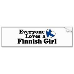 Finnish Girl Bumper Stickers