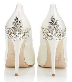 My bridal shoes Harriet Wilde Marina Daisy - Wedding Shoes - Crystal Bridal Accessories Daisy Wedding, Wedding Shoes Bride, White Wedding Shoes, Bride Shoes, Prom Shoes, Dream Wedding, Wedding Day, Spring Wedding, Blue Wedding