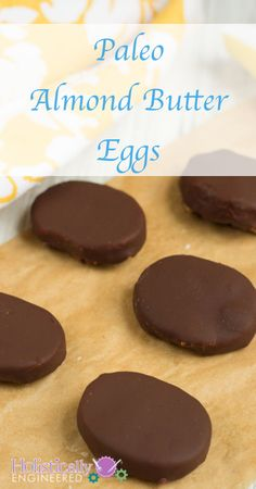 PALEO ALMOND BUTTER EGGS #paleo #chocolate #recipes paleoaholic.com