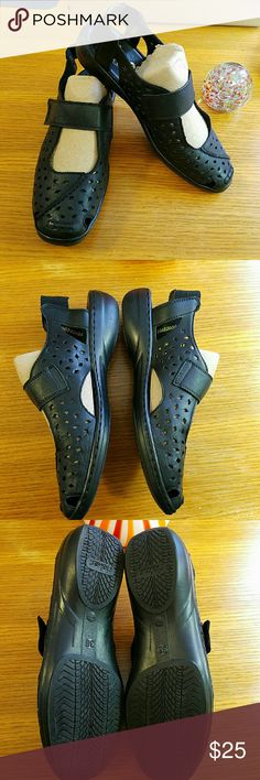 Rieker Black Leather Mary Jane style shoe Size 38 New condition no box, these are quality, very comfortable shoes, will not disappoint! Rieker Shoes
