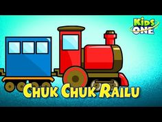 Telugu Padyalu: Chuk Chuk Railu Animated 2D Nursery Rhymes Kids Rh...