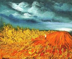 The Harvest, Oil by Maurice De Vlaminck (1876-1958, France)