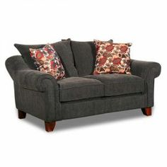 LOVESEAT-TEXTURED CHENILLE GREY AFW