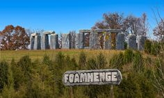 "Foamhenge, Stonehenge's unholy twin, guards its mystery in byways of Virginia: ""A full-scale replica of the neolithic monument made of foam and deposited in the Virginia countryside combines fakery and sincerity in oddly authentic way"""