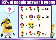 Flower puzzle 60 30 ??   Viral Flower Math Puzzle with Answer