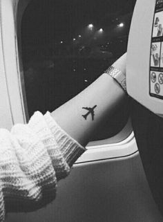 Plane tattoo i travelled since i was young so this would be a really nice meaningful tattoo to get