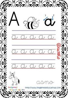 Free Kindergarten Worksheets, Letter Worksheets, 1st Grade Worksheets, Kindergarten Math, Calligraphy For Kids, Letter Formation, Help Teaching, Cursive, Kids Education