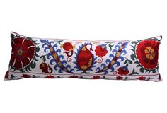 Hand-Embroidered Vine Suzani Pillow
