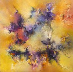 """""""Odisea"""" - Gabriela Winicki - Acrílico sobre tela - 100 cm x 100 cm - www.esencialismo.com"""