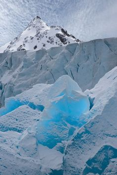 """Glacial Ice Glowing Like a Blue Crystal""  by Don Paulson via photo.net."