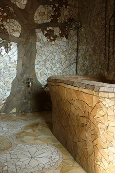 Bathroom mosaics of B&B La Fossa (Italy) Mosaic Bathroom, B & B, Mosaics, Italy, Self, Italia, Mosaic