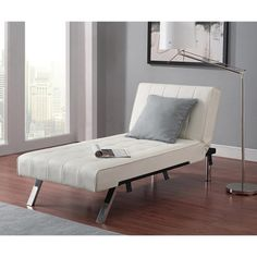 Emily Chaise Lounge - White - Dorel Home Products : Target