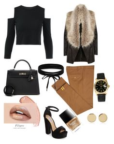 """""""Sans titre #10"""" by ness-11 ❤ liked on Polyvore featuring Diverso, River Island, Steve Madden, Hermès, Boohoo, Rolex, Magdalena Frackowiak and Butter London"""