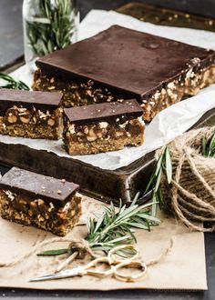 Raw Vegan Nutty Bucklinis Caramel Slice #RefinedSugarFree #GlutenFree