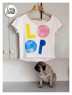 Loop handmade t-shirt  size: S, M, L