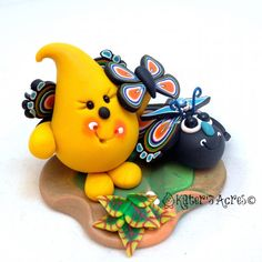 Parker Bug Series - Figurine 1 - Polymer Clay Character StoryBook Scenes by KatersAcres | Ready for adoption & a new forever home on Etsy