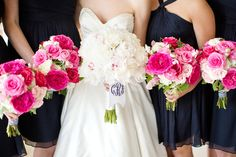pink + navy + monograms   Katelyn James #wedding