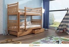 3 Bunk Beds, Bunk Beds With Drawers, Kid Beds, Funky Design, Solid Pine, Bed Frame, Storage Solutions, Kids Bedroom, Toddler Bed