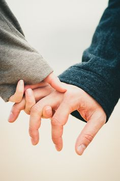 "When we hold hands, we're telling each other that we are always together. A simple gesture that says ""take my strength, courage, warmth and love"""
