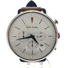 Paul Smith - Bicycle Inspired Chronogrpah (White Face/Brown Leather Strap)