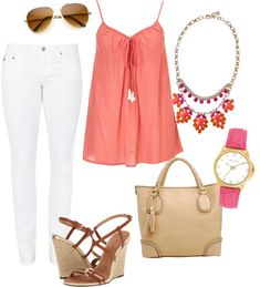 """""""day time coral"""" by mjblake on Polyvore"""
